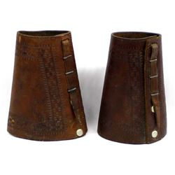 Vintage Cowboy Leather Cuffs