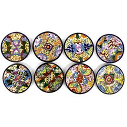 8 Mexican Talavera Pottery Plates