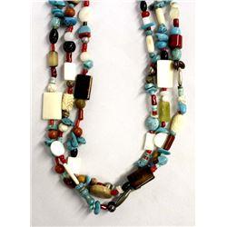Hand Beaded Treasure Necklace by Kills Thunder