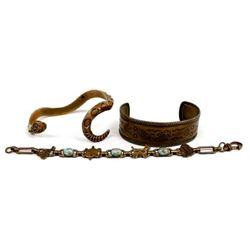3 Route 66 Copper Bracelets