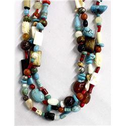 Multi-Stone Treasure Necklace, Kathy Kills Thunder