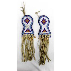 Pair of Native American Beaded Hair Ties