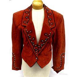 Red Tony Lama Diamond Leathers Suede Jacket