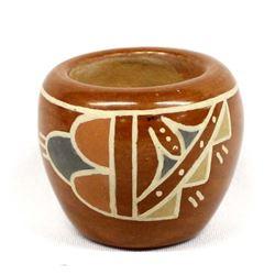 Vintage Santa Clara Pottery Jar by C. Naranjo