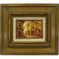 Framed Original Cityscape Painting by Villanova