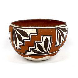 Vintage 1930's Isleta Pueblo Pottery Bowl