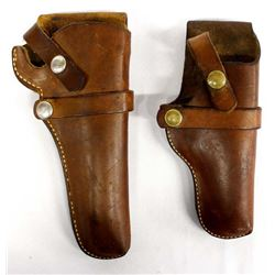2 Hunter Brand Leather Gun Holsters