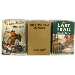 3 Vintage Zane Grey Books