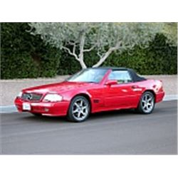 1995 MERCEDES BENZ SL CONVERTIBLE RED