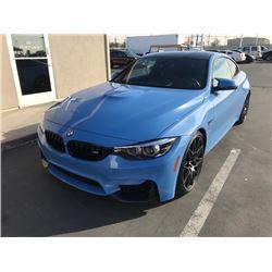 2018 BMW M4 BLUE