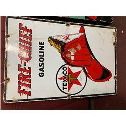 NO RESERVE ORIGINAL TEXACO FIRE CHIEF METAL SIGN