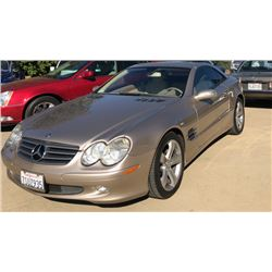 FRIDAY 2005 MERCEDES SL500 CONVERTIBLE ROADSTER
