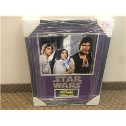 STAR WARS SIGNED BY HARRISON FORD CARRIE FISHER MARK HAMMILL WITH COA