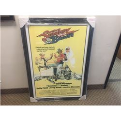 BURT REYNOLDS SIGNED SMOKEY AND THE BANDIT MOVIE POSTER FRAMED WITH COA