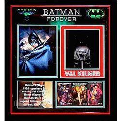 Val Kilmer Signed Batman Forever Mask Collage