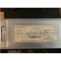 PSA/DNA Joey Bishop Signed Check