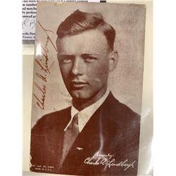 Charles Lindbergh Signed Portrait