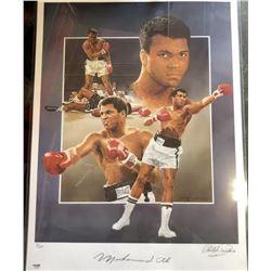 Muhammad Ali Signed Art Lithographic Print