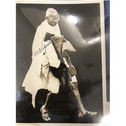 Mahatma Gandhi Signed Photo