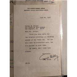 Gene Kelly Signed & Written 1978 Letter