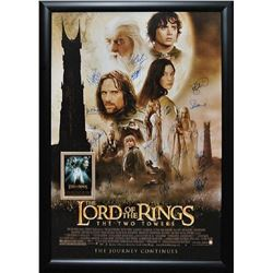 Lord of the Rings - The Two Towers - Signed Movie Poster