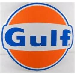"VINTAGE 24 "" GULF METAL ADVERTISING SIGN  / $159.00"