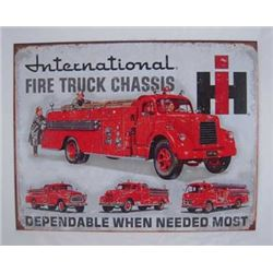 NEW VINTAGE METAL INTERNATIONAL TRUCK SIGN/ $89.00