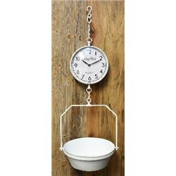 NEW REPLICA  METAL HANDING SCALE KITCHEN  CLOCK / $129.00
