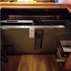 """STAINLESS STEEL COOLER/65"""" X 27"""" X 31"""" HEIGHT"""