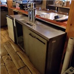 """5 KEG BEER COOLER WITH TAP SYSTEM/ 69"""" X 27"""" X 38"""" HEIGHT/ CURRENT COMP APPROX $3,690.36"""