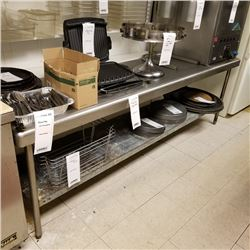 """8' STAINLESS STEEL PREP TABLE/96"""" WIDE X 30"""" DEEP X 36"""" HEIGHT/CURRENT COMP $274.00"""