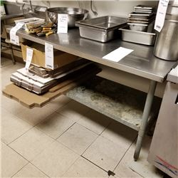 "5' STAINLESS STEEL PREP TABLE/60"" WIDE X 30"" DEEP X 36"" HEIGHT"