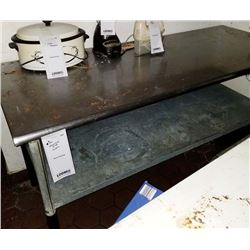 "6' STAINLESS STEEL PREP TABLE/72"" WIDE X 30"" DEEP X 36"" HEIGHT"