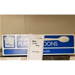 PLASTIC SPOONS LOT