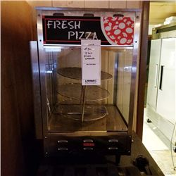ELECTRIC ROTATING 3 TIER GLASS CASE PIZZA WARMER