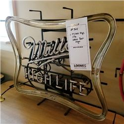 "MILLER HIGH LIFE BEER SIGN/APPROX 21"" HIGH X 26"" WIDE"
