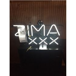 "ZIMA NEON SIGN/APPROX 13"" HIGH X 24"" WIDE"