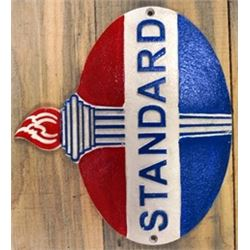 VINTAGE CAST IRON STANDARD OIL SIGN / $129.00