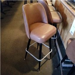 BAR STOOLS/BROWN VINYL/STEEL FRAMES/*SEE PHOTOS*