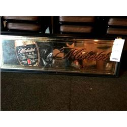 "MICHELOB LAGER MIRRORED SIGN/ APPROX 17"" HIGH X 51"" WIDE"