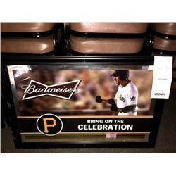 "BUDWEISER PIRATES BRING ON THE CELEBRATION SIGN/*SEE PHOTOS*/APPROX 24"" HIGH X 36"" WIDE"