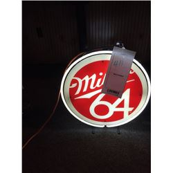 "MILLER 64 NEON SIGN/GOOD CONDITION/*SEE PHOTOS*/ APPROX 20"" HIGH X 18"" WIDE"