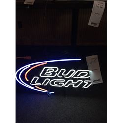 "BUD LIGHT NEON SIGN/GOOD CONDITION/*SEE PHOTOS*/ APPROX 18"" HIGH X 30"" WIDE"