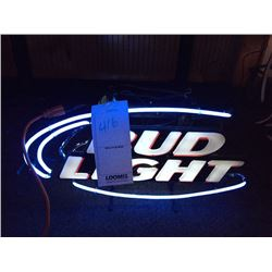 "BUD LIGHT NEON SIGN/GOOD CONDITION/*SEE PHOTOS*/ APPROX 14"" HIGH X 28"" WIDE"