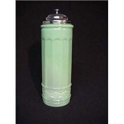JADITE GLASS TALL STRAW HOLDER /$45.00