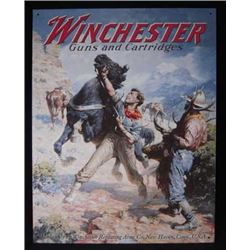 Aged Processed  Metal Tin Sign 'Winchester Spooked Horse' :$39.00