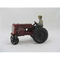CAST IRON ANTIQUE TRACTOR TOY ; $69.00