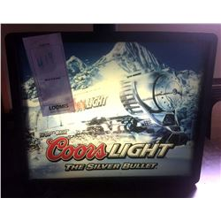 COORS LIGHT/THE SILVER BULLET LIGHTED ADVERTISEMENT