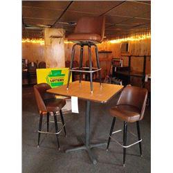 BAR STOOL AND TABLE SAMPLE PHOTO GROUP