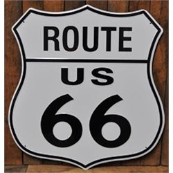 24 INCH / VINTAGE ROUTE 66 ROAD SIGN (50s-60S)  $69.00